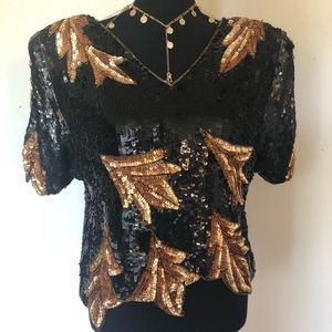 Vintage India King Pure Silk Beaded Blouse